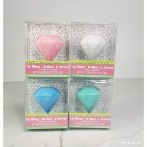 Diamond Shape Scented Lip Gloss Pack of Four